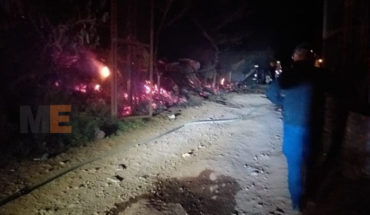 Se incendian siete viviendas en colonia irregular de Uruapan, Michoacán
