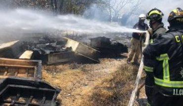 Se registra incendio en lote baldío de Santa Fe