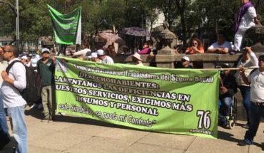 Sindicato del IMSS da respaldo a AMLO pero le pide atender las carencias en hospitales