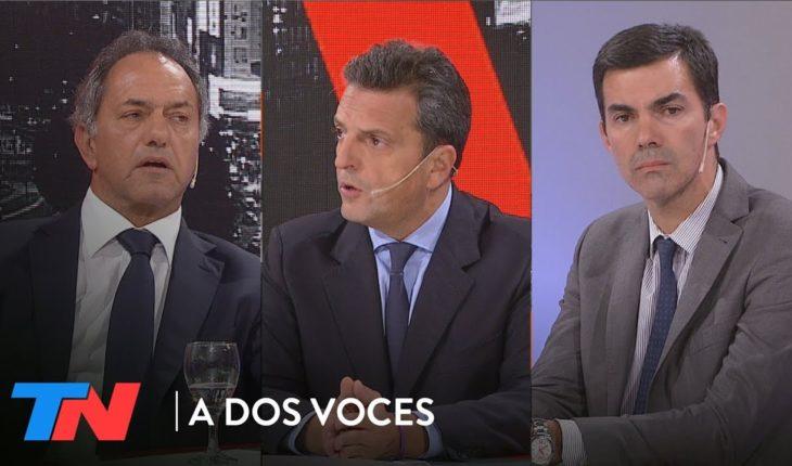 Scioli, Massa y Urtubey sobre el juicio a Cristina   A DOS VOCES