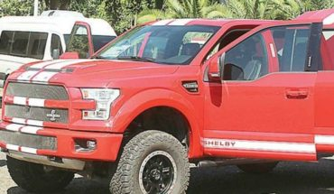 A Ford Shelby F-150 will be auctioned which was used by the Pacific cartel