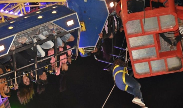 Drama in a San Juan amusement park: 31 people were hanged of a game