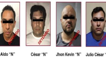Four members of the Jalisco cartel stop at the CDMX