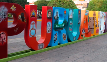 Government Puruándiro restored monumental letters with history of the municipality
