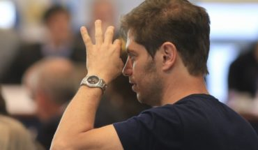 "Kicillof spoke as a candidate: ""I am very excited"""