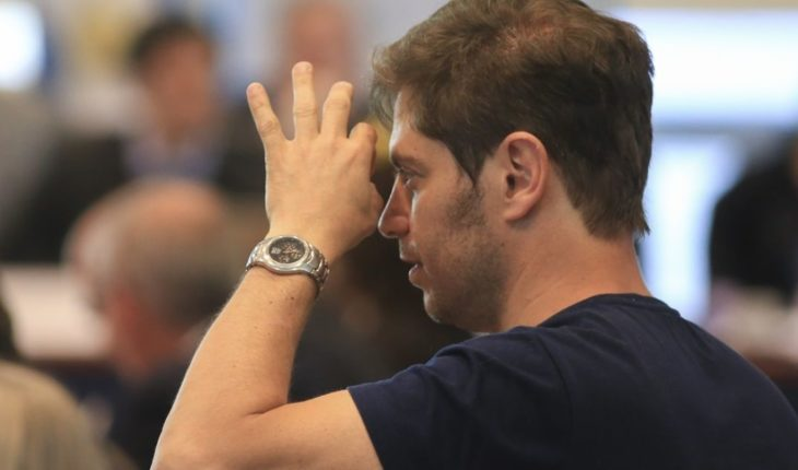 """Kicillof spoke as a candidate: """"I am very excited"""""""