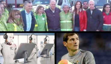 Macri and Vidal greeted workers, jobs that will not be replaced by robots, Casillas suffered a heart attack and much more...
