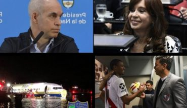 Meeting of Larreta and Cristina, day of Star Wars, plane fell to the river, Lousteau banc to the UCR, the landslide of River and more...
