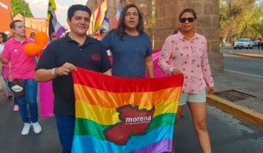Morena and Michoacán government hang on the March Pride Morelia 2019