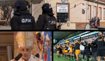 """Poli ordered a """"great national Pact"""" in the Te Deum, four police officers charged in Monte, celebrate this May 25 and more..."""