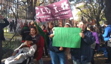 Protest against the fifth of olive trees against disability cuts