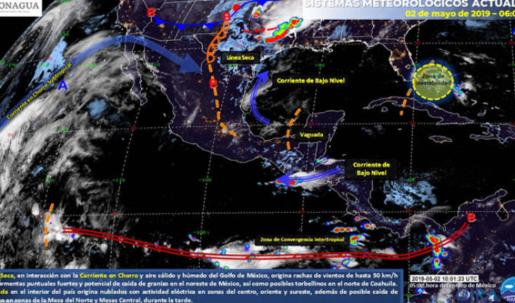 Strong storms over the Northeast, East and centre of the country, will keep the heat wave in much of Mexico