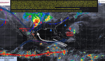 Strong winds and rain in northern Mexico, hot atmosphere in much of the country