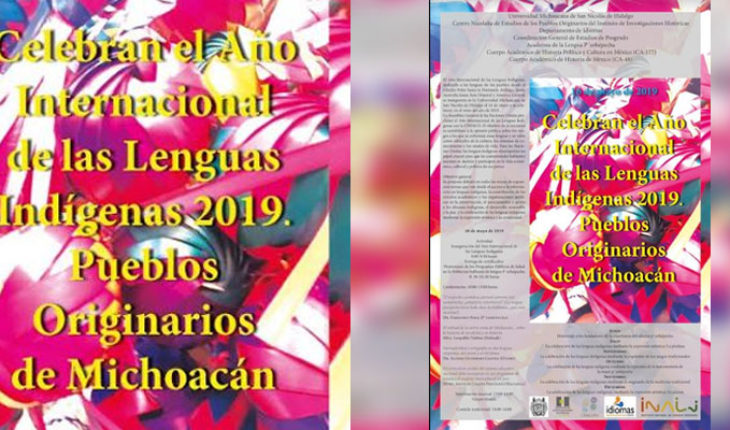 The International Year of Indigenous Languages will be held at the UMSNH