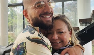 The questioned photo that Maluma published for Mother's Day