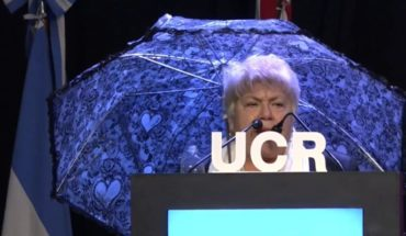 "The umbrella for ""Investment Rain"" at the radical Convention"