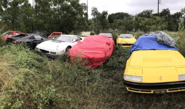 They left a classic Ferrari collection abandoned in a field
