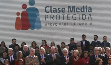 "To end the ""fears"" of the population: Piñera launches the program ""Protected middle class"""