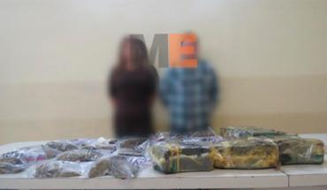 Catean inmueble en Pátzcuaro y aseguran a pareja con droga
