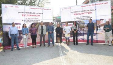 Entrega ayuntamiento de Morelia, pavimentación de calle en la colonia Eduardo Ruíz