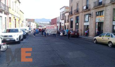 Estudiantes conmemoran 'El Halconazo' en Morelia