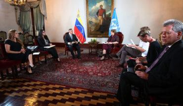 """Funcionarios del gobierno venezolano pidieron a Bachelet que """"interceda"""" para liberar recursos bloqueados"""