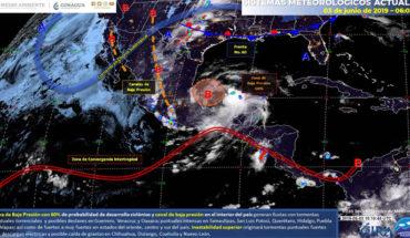 Lluvias con tormentas en el noreste, centro, oriente y sur de México