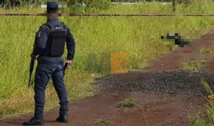 Localizan cadáver baleado en brecha de Las Joyas Bajas, en Tacámbaro, Michoacán