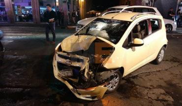 Se registra carambola en el Centro de Morelia, hay dos personas lesionadas