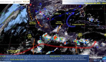 Tormentas fuertes en el norte y sureste de México