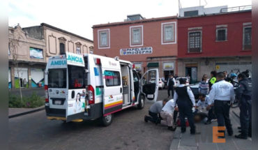 A woman dies for possible heart attack in the Plaza Valladolid of Morelia