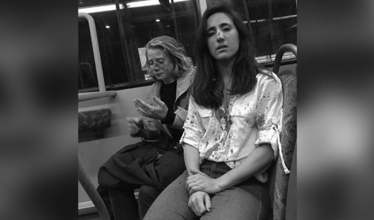 A young couple suffers homophobic attack on a bus from London, England