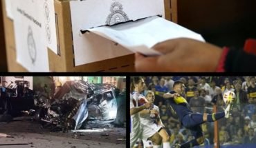 Closed the elections in 3 provinces, tragedy in Sunchales, Boca and Tigre define the cup of the Super League and much more...