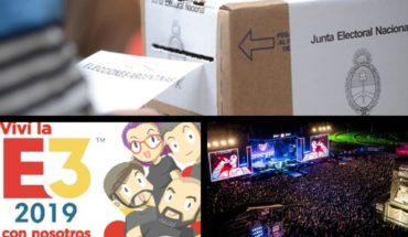 Elections in 5 provinces, E3 2019 in Filo, Mirtha VS Manes, I followed live the Festival province Emergente and more...
