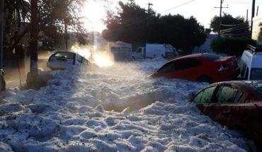 Hail cover of ice Guadalajara metropolitan area