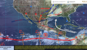 Intense storms with electric shocks and hail in Michoacán, Guerrero and Puebla