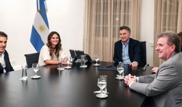 Mauricio Macri received Amalia Granata at Casa Rosada