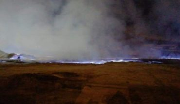 Sulphur fire emergency in the north