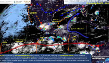 Very strong storms are planned for today in central and southern Mexico