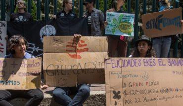 Activistas y académicos protestan frente a Grupo México