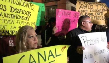 Ante despidos, extrabajadores de Canal Once piden la intervención de AMLO
