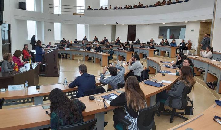 Ayuda y seguridad: tendencias en la UE. Simposio Internacional Escenarios Emergentes de Cooperación Internacional Medio Ambiente y Seguridad. Foto: Universidad Militar Nueva Granada (@lamilitar)