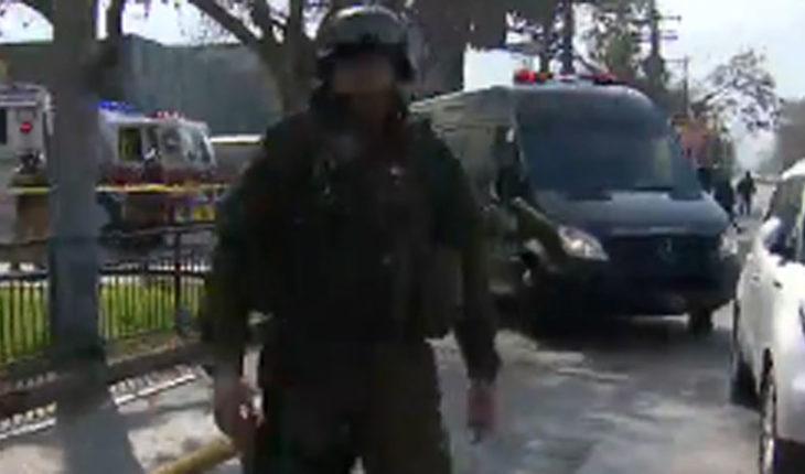 Carabineros confirmó que estallido en comisaría de Huechuraba fue por artefacto explosivo: hay cinco carabineros lesionados