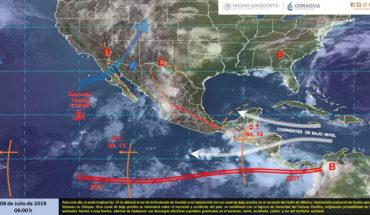 Chubascos con descargas eléctricas en el norte, occidente, centro y sur de México