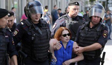 Cientos de detenidos tras manifestación del sábado contra alcalde de Moscú