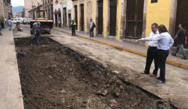 Inician los trabajos de rehabilitación de la calle Corregidora en el Centro Histórico de Morelia