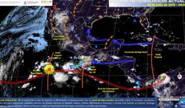 Lluvias intensas en el noroeste, occidente y centro de México