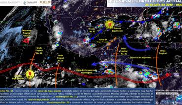 Lluvias muy fuertes en el noreste, centro y oriente de México