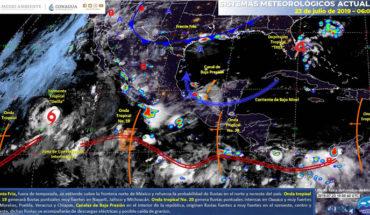 Lluvias muy fuertes en el noreste, occidente y sureste de México