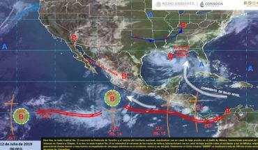 Lluvias muy fuertes en el occidente, centro y sur de México